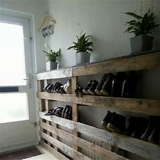 Schuhregal Paletten Recycled Pallet Wood