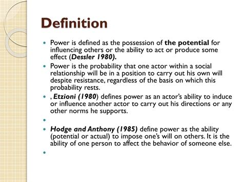 Definition Of Power International Relations
