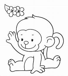 Malvorlagen Tiere Affen Monkey Coloring Pages Coloringbay