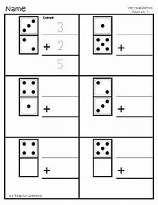 addition worksheets vertical 9090 vertical domino addition practice 20 worksheets 20 answer