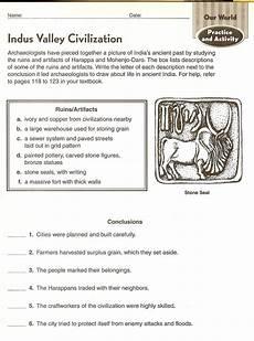 indus valley civilization worksheets mr proehl s social studies class 6th grade social studies course web site