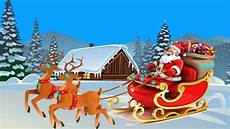 happy new year christmas card santa claus and lapland 4k ultra hd desktop wallpapers for