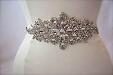 large rhinestone bridal belt wedding belt bridal sash