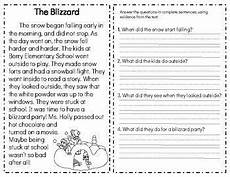 nature reading comprehension worksheets 15108 winter fiction reading comprehension passages questions with images comprehension passage