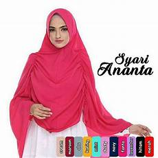 Jilbab Khimar Syar I Ananta Di 2019 Gaya Model