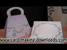 handbag card template free how to make a handbag card www card downloads