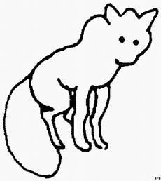 Malvorlagen Tiere Fuchs Schematischer Fuchs 2 Ausmalbild Malvorlage Tiere