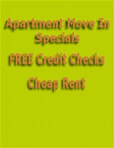 Apartment Rent Specials by Apartment Specials Free Credit Check Cheap Rent