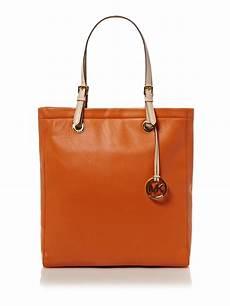 michael kors tote shopper bag in orange lyst