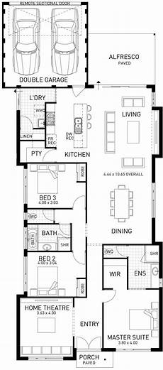 single storey house plans australia horizon narrow single storey floor plan wa casa en