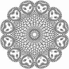 develop your intuition with an owl mandala coloring sheet