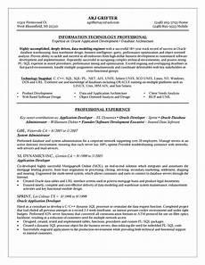 oracle dba data administration sle resume resume exles oracle database