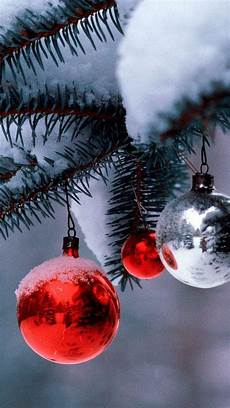 christmas balls tree snow android wallpaper free download