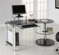 schreibtisch schwarz glas computer schreibtisch schwarz glas home office m 246 bel sets