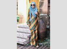 Baju Kurung Batik Aria   Teal   MuslimahClothing.Com