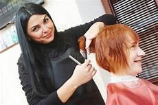woman hair cutting work stock image image of girl long 47746465