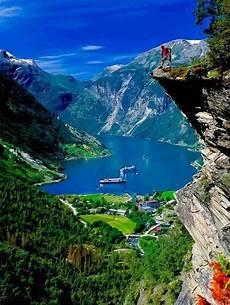 Norwegen Norwegen Landschaft Freizeitsport Und Reisen