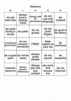 bingo manners