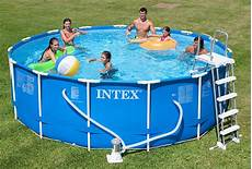 piscine tubulaire intex ronde metal frame 4 57 x h1 22m