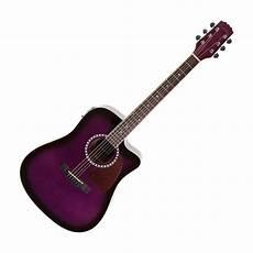 purple guitar new martinez acoustic electric dreadnought cutaway guitar purple ebay