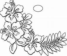 Ausmalbilder Hawaii Blumen Hawaiian Flower Coloring Page At Getcolorings Free