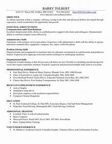 barry t skills resume