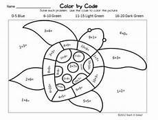 color by number worksheets printable 16059 turtle color code math worksheet kindergarten lessons math coloring math