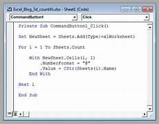 list sheet tab names with excel vba my online training hub