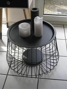 designer tisch beistelltisch metall mit deckel schwarz 216