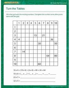 multiplication worksheets sixth grade 4600 turn the tables printable math worksheet for sixth grade