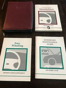 free service manuals online 1998 mercury mountaineer user handbook 1999 mercury mountaineer owners manual with case oem free shipping ebay