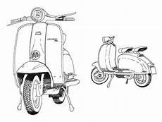 Cara Gambar Motor Vespa Rosaemente