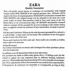 what is zara s christmas holiday return policy stuarte