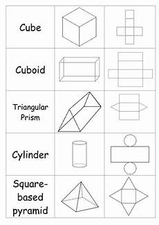 nets of 3d shapes matching activity teaching resources