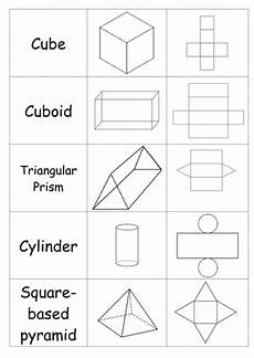 nets of 3d shapes matching activity by katysmitton teaching resources