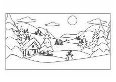 Ausmalbilder Haus Mit Schnee Ausmalbilder Winter Jahreszeit
