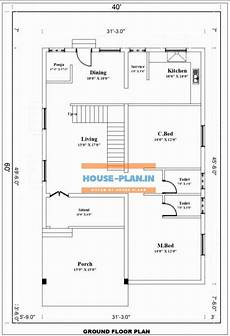 40 215 60 north facing house vastu plan with pooja room