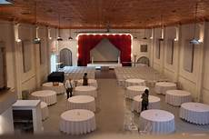 wedding reception and ceremony in same room linens on and ready for the rehearsal indoor