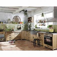 meuble de cuisine maison du monde meuble bas de cuisine avec 233 vier en pin recycl 233 l90