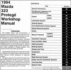 free car repair manuals 1994 mazda 323 spare parts catalogs 1994 mazda 323 repair shop manual original