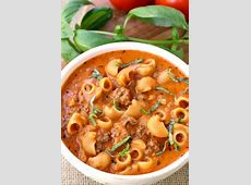 hamburger soup with macaroni