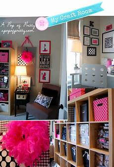 craft room pink black and white a pop of pretty a