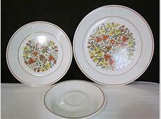 3 Piece Vintage Dinnerware Set Corelle By Corning Indian
