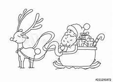 Ausmalbilder Rentiere Weihnachtsmann Quot Ausmalbild Weihnachtsmann Mit Schlitten Quot Stockfotos Und
