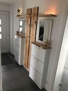 Selbstgebaute Garderobe Mit Douglasie Dielen прихожая