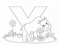 colouring pages for adults of animals letters 17309 animal alphabet letter y is for yak coloring page abc coloring pages alphabet coloring pages
