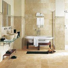 Carrelage Salle De Bain En Naturelle De Travertin