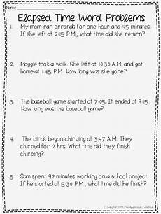 elapsed time worksheets 5th grade word problems 3290 with elapsed time and a freebie the applicious