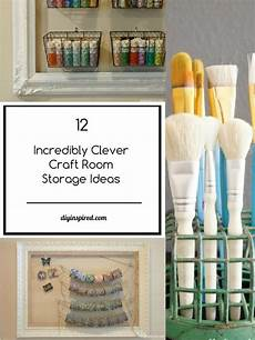 12 incredibly clever craft room storage ideas diy inspired