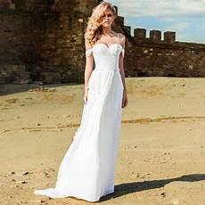 delicate lace beach wedding dresses spaghetti straps a line beaded lace appliques elegant bridal